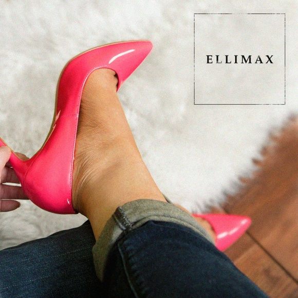 Hot Pink Pointy Heels